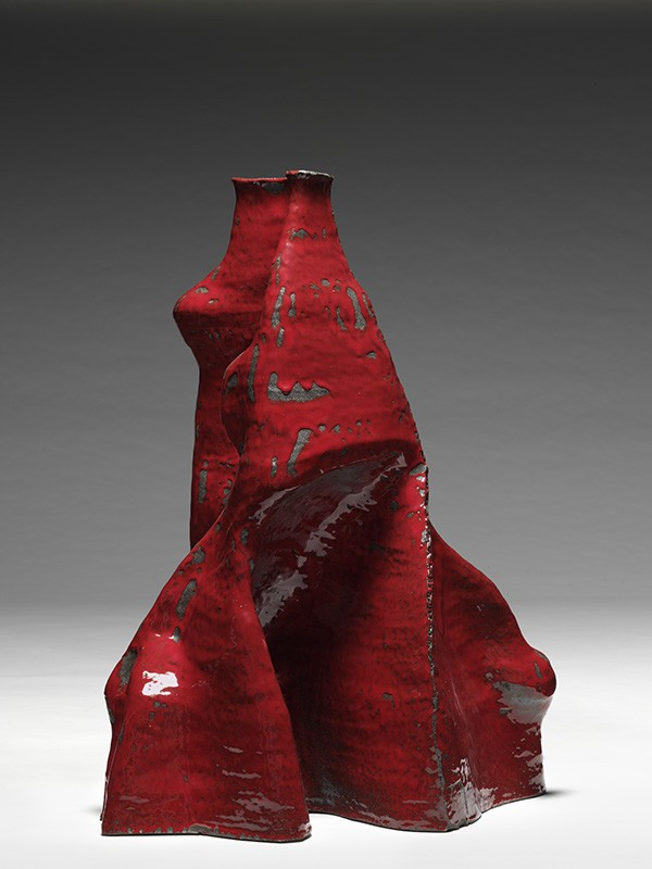 Pneuma rosso semirefrattario e smalto - Riccardo Monachesi