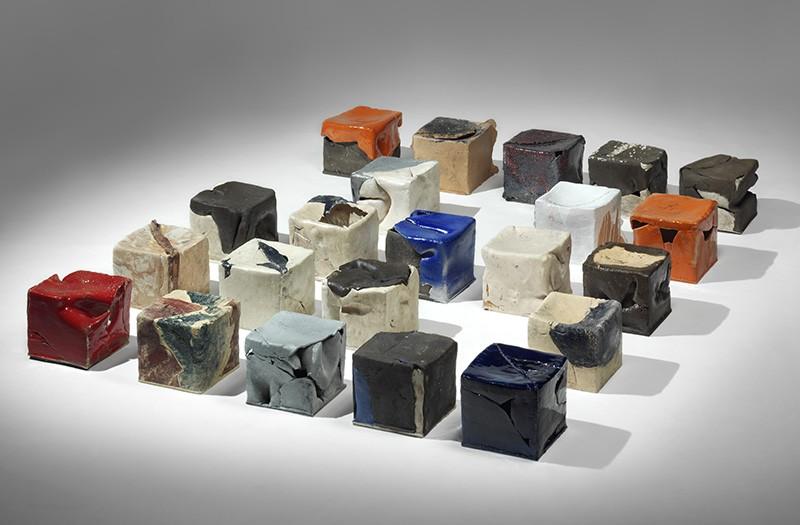 Cubi in ceramica - Riccardo Monachesi - Galleria Sinopia