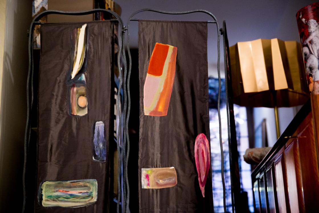 Paravento in seta by Luisa Longo - Galleria Sinopia
